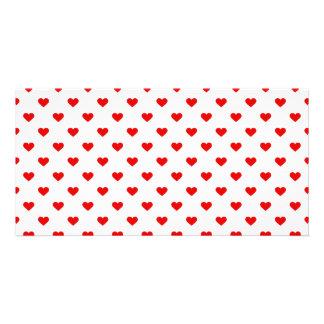 Red Heart Pattern Love Card