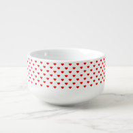 Red Heart Pattern Love Soup Mug