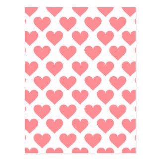 Red Heart Pattern Postcard