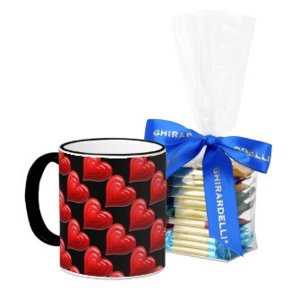 Red Heart Pattern Valentine's DayCoffee Mug