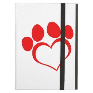 Red Heart Paw Print iPad Air Case