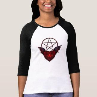 RED HEART PENTAGRAM T-Shirt