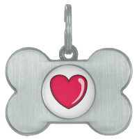 Red Heart Pet Tag