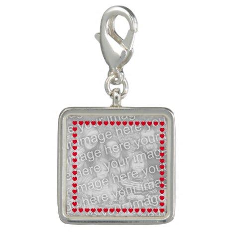 Red Heart Photo Border Charm
