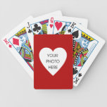 Red Heart Photo Frame Bicycle Playing Cards