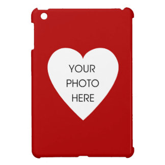 Red Heart Photo Frame iPad Mini Cover