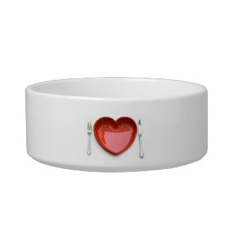 Red Heart Plate - Valentine's Day Bowl