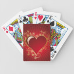 Red Heart Playing Cards