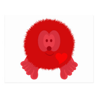 Red Heart Pom Pom Pal Postcard
