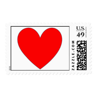 red heart postage