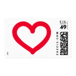 Red heart postage stamp