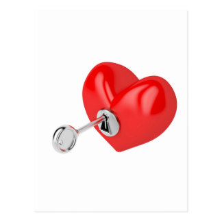 Red heart postcard