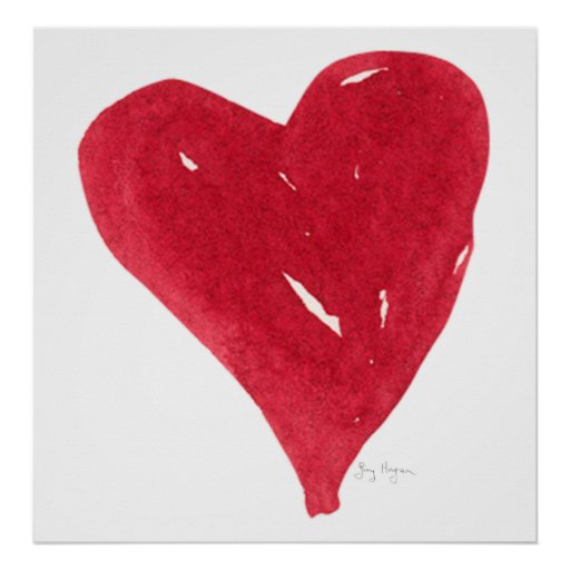 Red Heart Posters & Prints