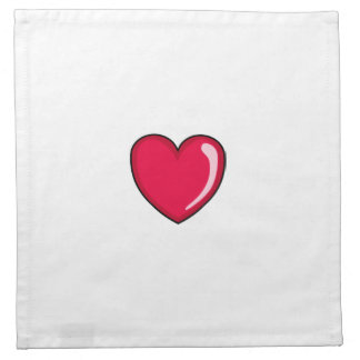 Red Heart Printed Napkin