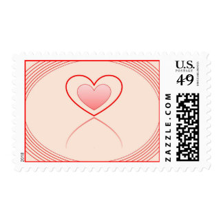 Red Heart Reflection Stamps