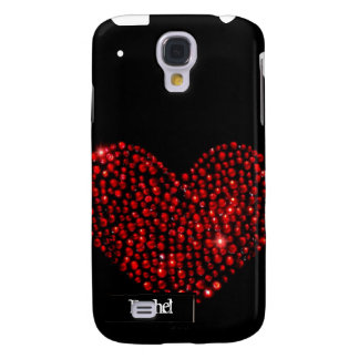 Red Heart Rhinestone iPhone3G Cover Galaxy S4 Case