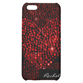Red Heart Rhinestone iPhone4 Cover Cover For iPhone 5C