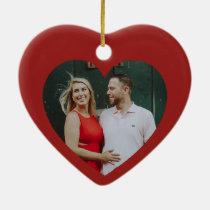 Red Heart Romantic Custom Christmas Decoration