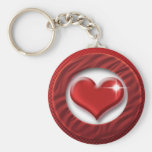 Red heart romantic keychains & keyrings