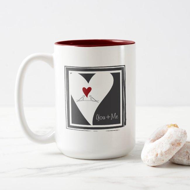 Red Heart Rustic Modern White Doves In Love Custom