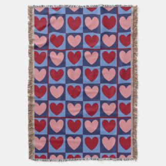 Red Heart Sampler Blanket Throw