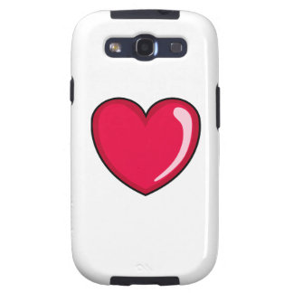 Red Heart Samsung Galaxy SIII Cases