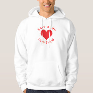 Red heart save a life give blood sweatshirt
