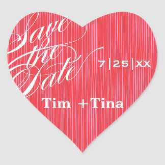 Red Heart  |  Save the Date Envelope Seal Heart Sticker