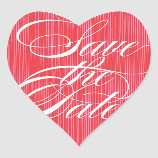 Red Heart  |  Save the Date Envelope Seal Sticker