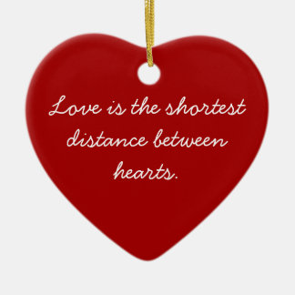 Red Heart Sentiment Ornament
