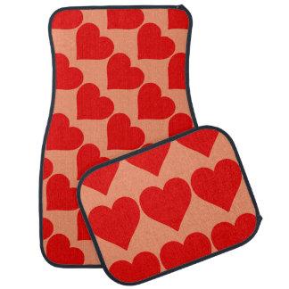 Red Heart Shape Love You Valentine Car Mat