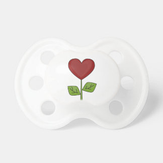 Red Heart-shaped Flower BooginHead Pacifier
