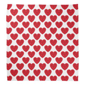 Red Heart Shapes Filled with Roses Bandana