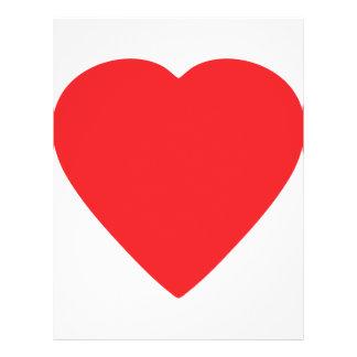 red heart sign custom flyer