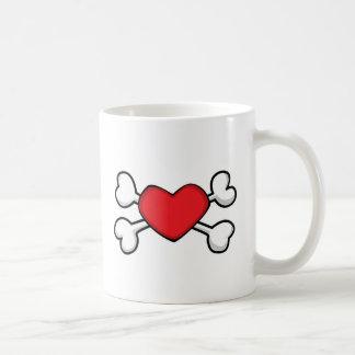 red heart Skull and Crossbones Mugs