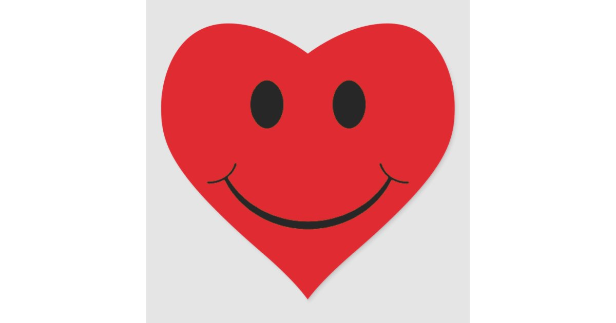 Red Heart Smiley Face Stickers Zazzle