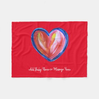 Red Heart Soft Fleece Custom Baby Blankets