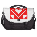 Red Heart Square Laptop Computer Bag