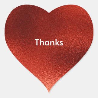 Red Heart Stickers, Glossy Heart Sticker