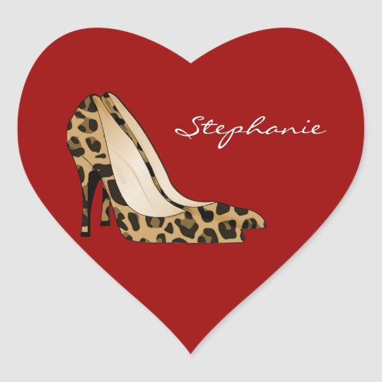 Red Heart & Stiletto Heels Sticker