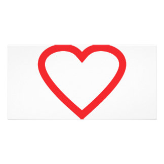 red heart symbol photo card template