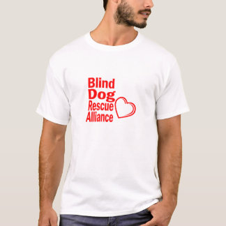 Red heart t-shirt for blind dogs