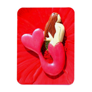 red heart-tailed mermaid beauty magnet