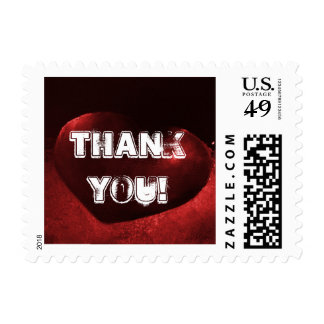 Red Heart Thank You! Postage