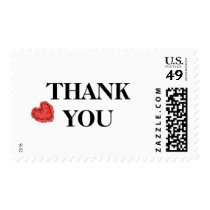 Red Heart Thank You Postage