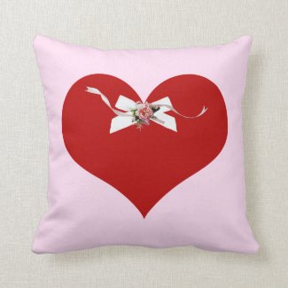 Red Heart Throw Pillows