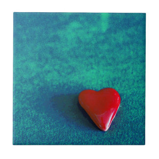 red heart small square tile