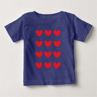 red heart tiled for child baby T-Shirt