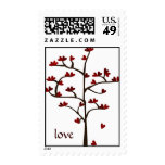 Red Heart Tree Stamp