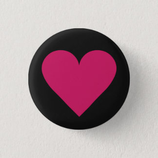 Red Heart Valentine custom button